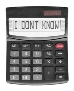 calculator saying I don't Know