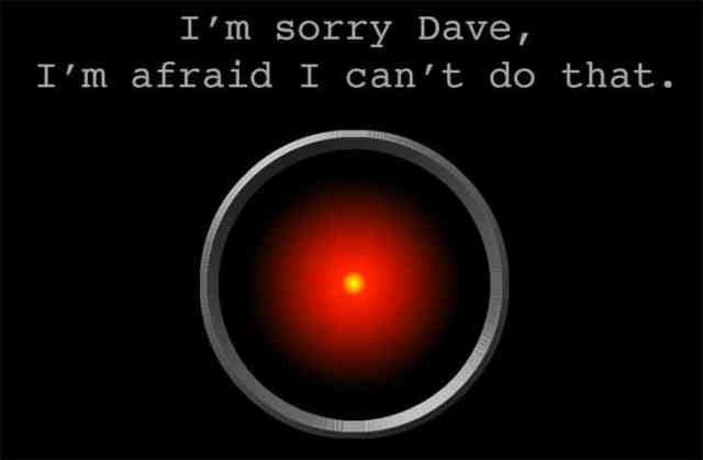 HAL 9000 the algorithm in 2001 Space Odyssey