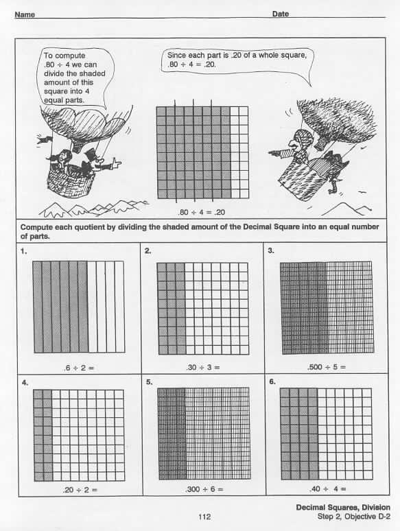 Division  Decimal Squares