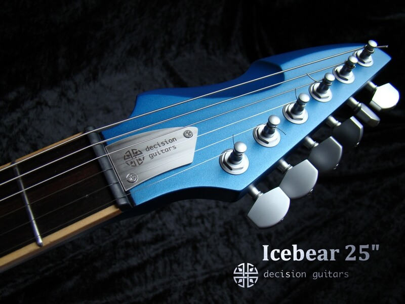 "icebear blue 25"" reversed headstock"