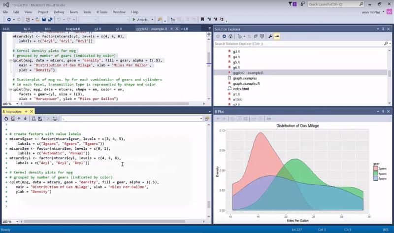 R Tools for Visual Studio