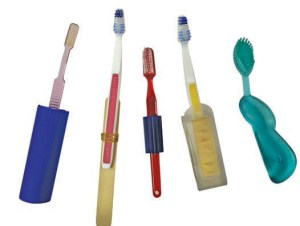 FIGURE 1. Various grips can be added to toothbrushes to make them easier to use for patients who lack the dexterity needed for effective brushing.