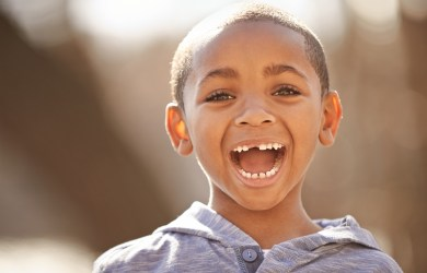 A child smiling