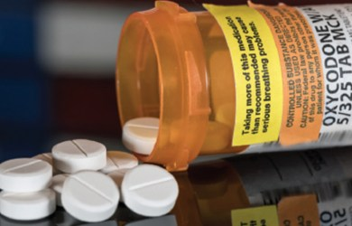 Bottle of dental opioids