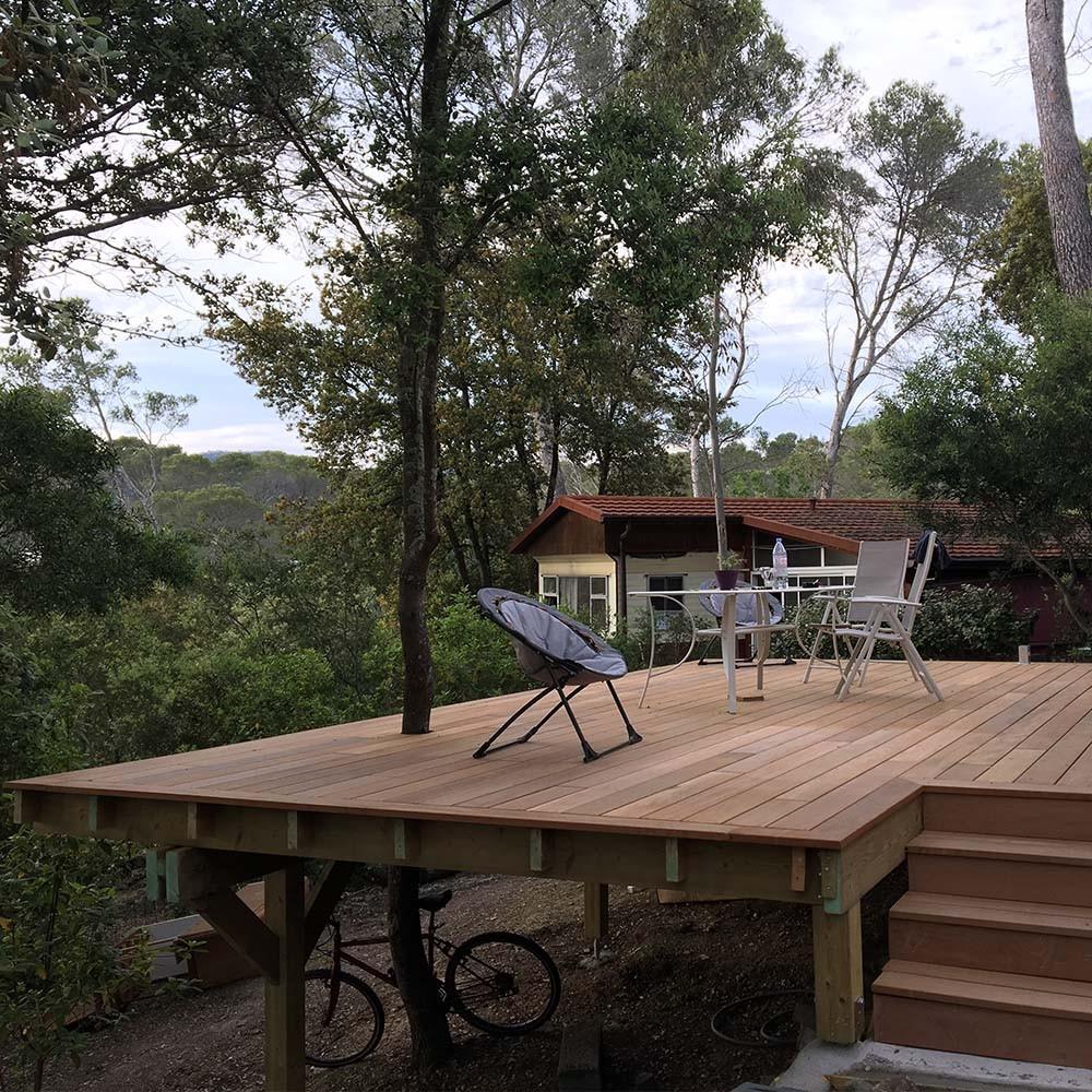 terrasse sur lev e extension avec terrasse sur lev e. Black Bedroom Furniture Sets. Home Design Ideas