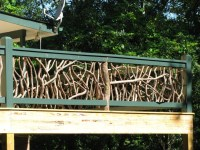 Branches make the most awesome deck railing | Deck Railing ...