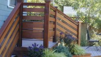 Horizontal Board Pipe Railing | Deck Railing Ideas