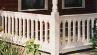 Oval Pattern Sawn Baluster Railing | Deck Railing Ideas