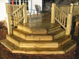 Inspiring Corner Deck Stairs Design Deck Steps Design Deck ...