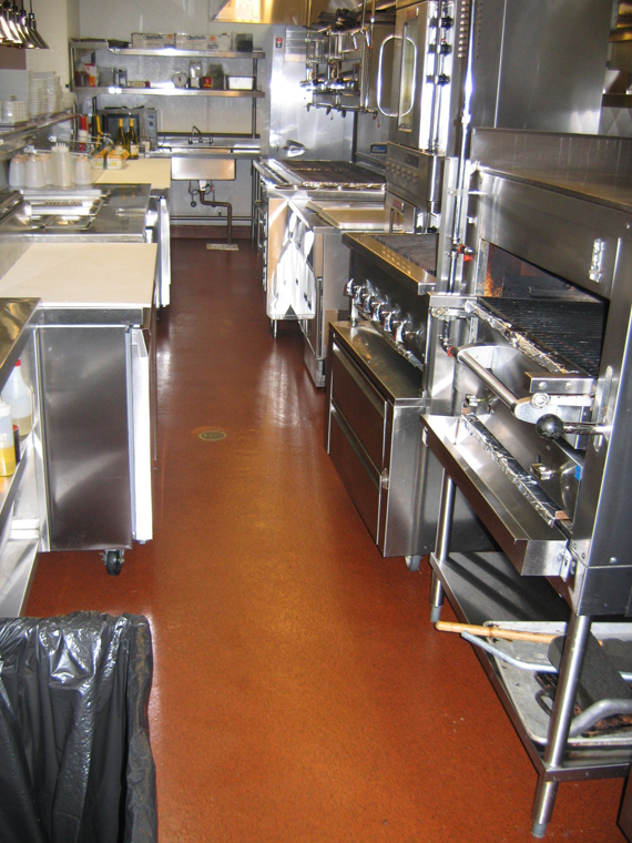 commercial kitchen flooring small glass top table restaurants floors deckade advanced kitchens