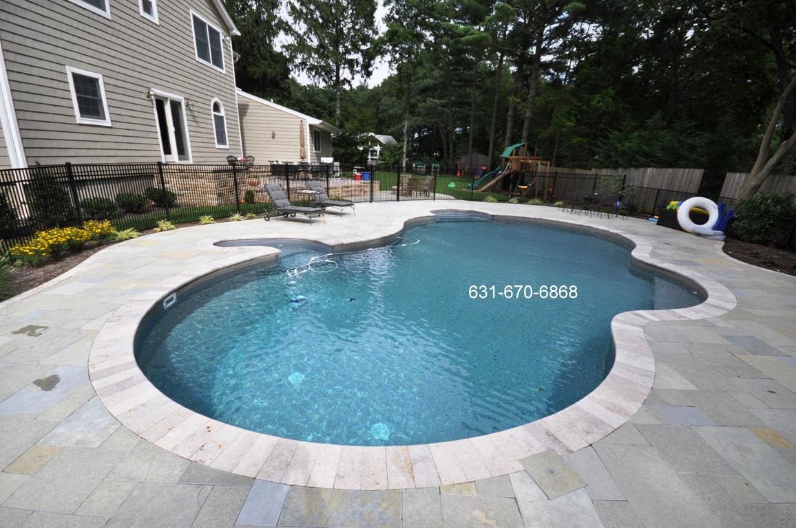 Blue StonePool Patio Brentwood NY 11717 Long Island