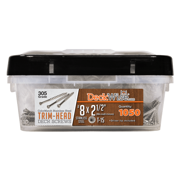 Trim Head DeckScrew 8x2-1/2 1050ct