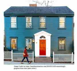 exterior colors colonial homes painted