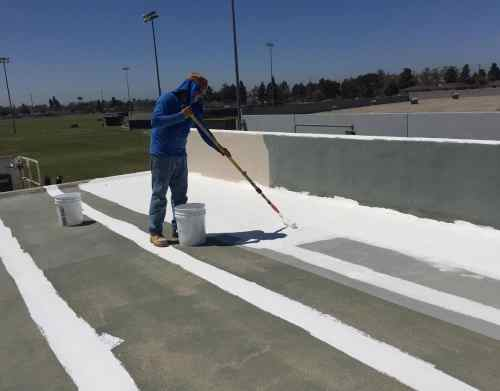 Applying Elastomeric Roof Coating