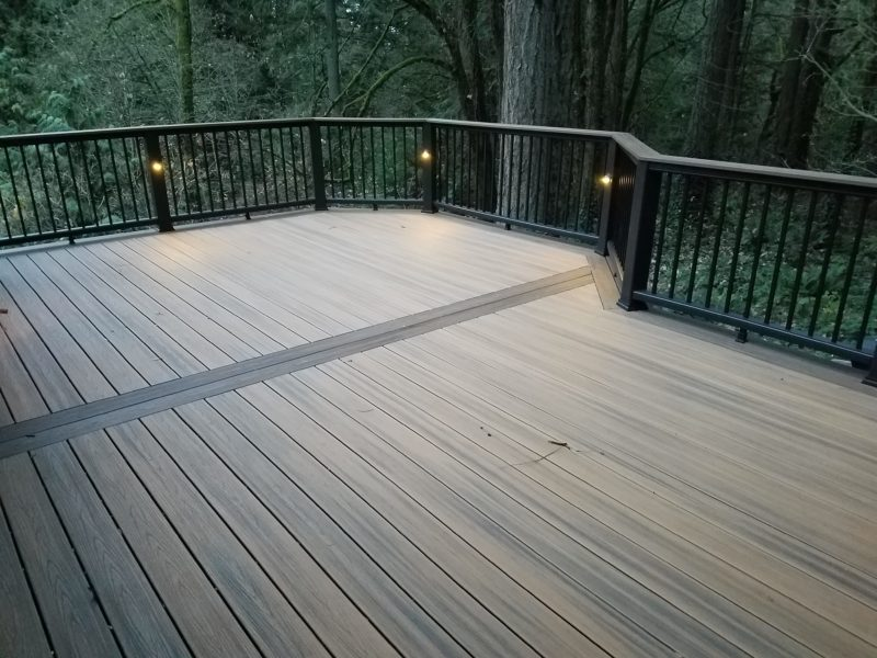 Havana Gold Decking With Spiced Rum Picture Frame Deck