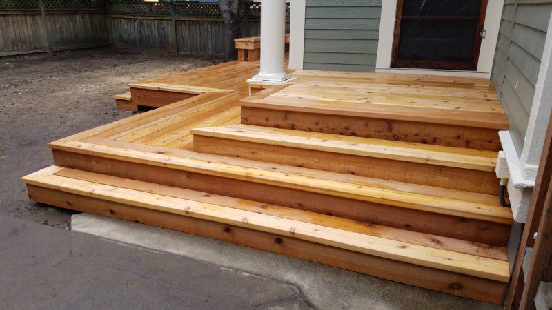 Classic cedar deck