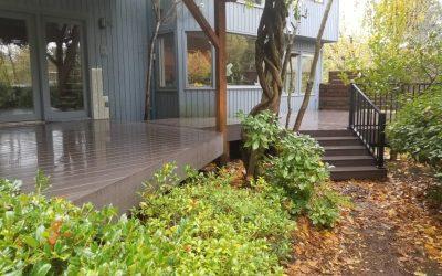 Azek dark hickory PVC deck