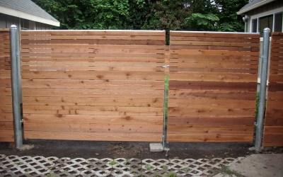 Horizontal fence with heavy duty gate