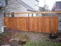 Custom cedar fence and pergola True privacy fence with ...