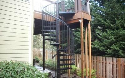 Spiral staircase deck