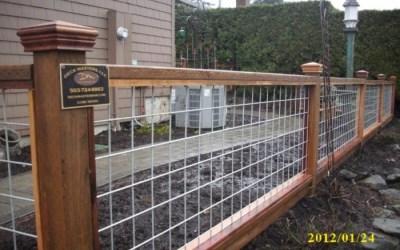 Hog panel fencing