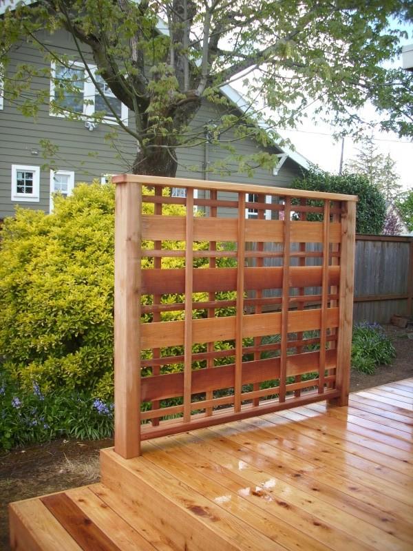 Cedar deck with custom lattice deck masters llc for Lattice privacy panels for decks