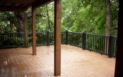 Elevated hillside PVC deck