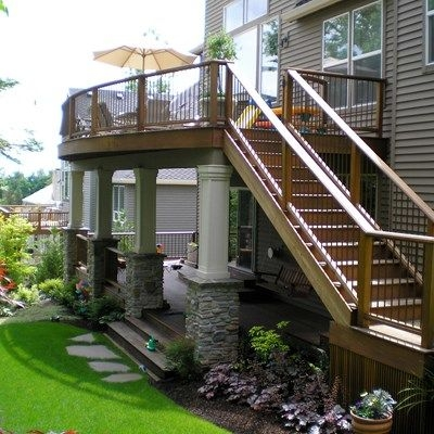 Second Story Deck Ideas Designs Pictures Decks Com | Outside Stairs To Second Floor | Steel | Entrance | Staircase | Patio | Deck