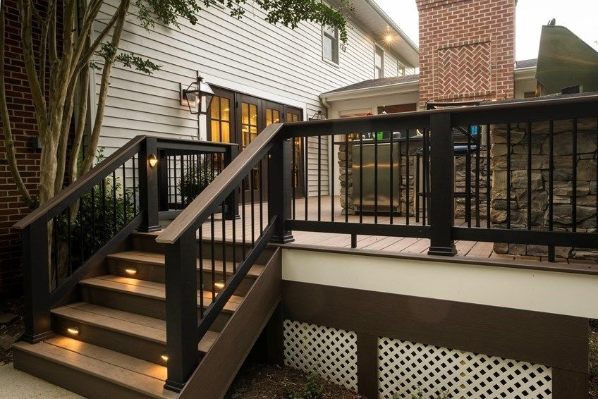 Deck Railing Codes Decks Com | Safety Handrails For Outdoor Steps | Railing Kits | Simplified Building | Wrought Iron | Wood | Metal