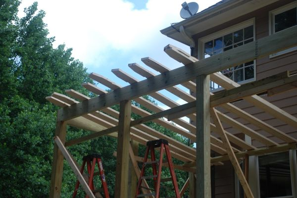 Building Shed Roof Over Deck