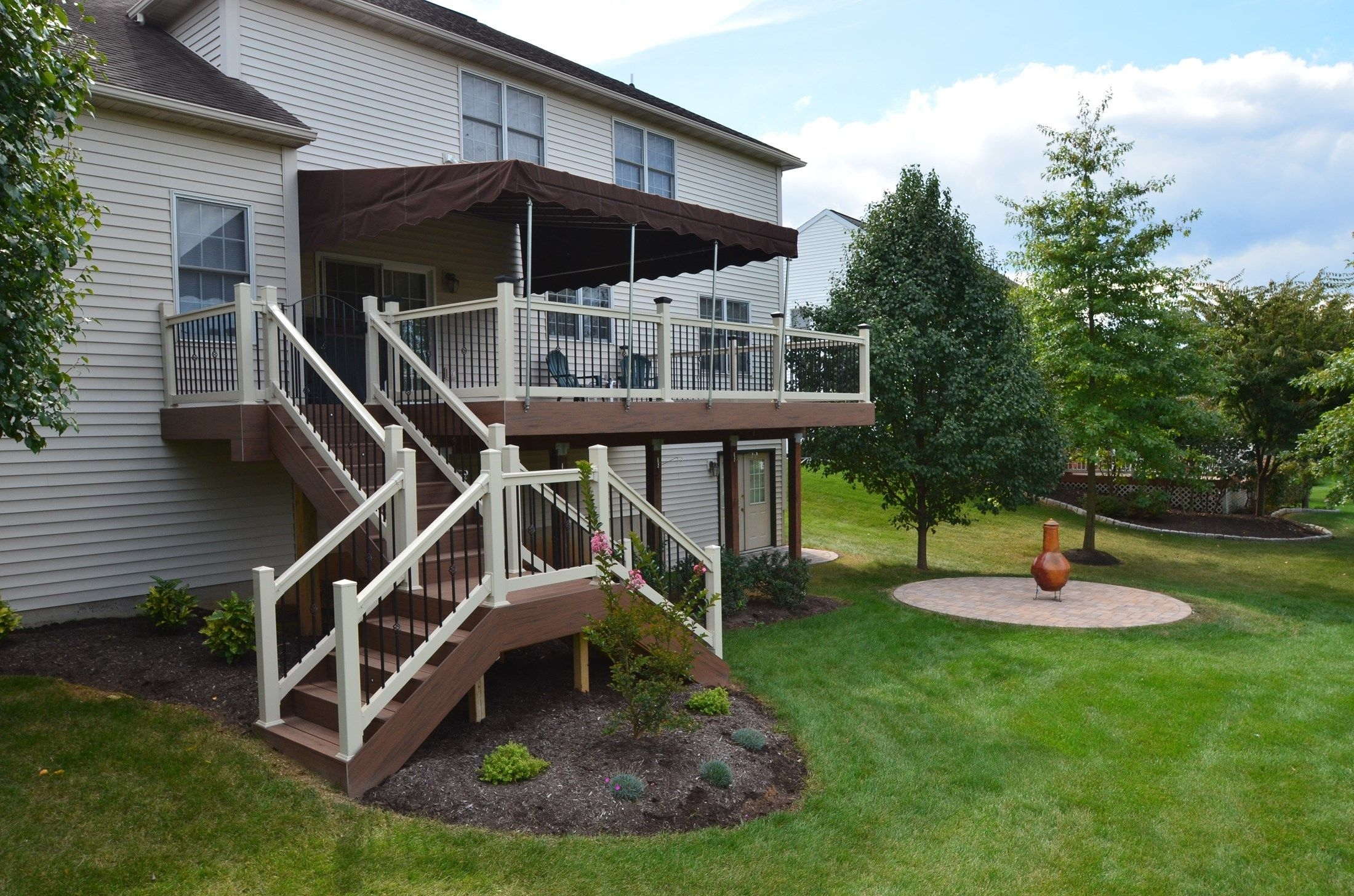 Second Story Deck Ideas Designs Pictures Page 2 Decks Com | Two Story Deck Stair Designs | Building | Modern | House | Decking | Split Level