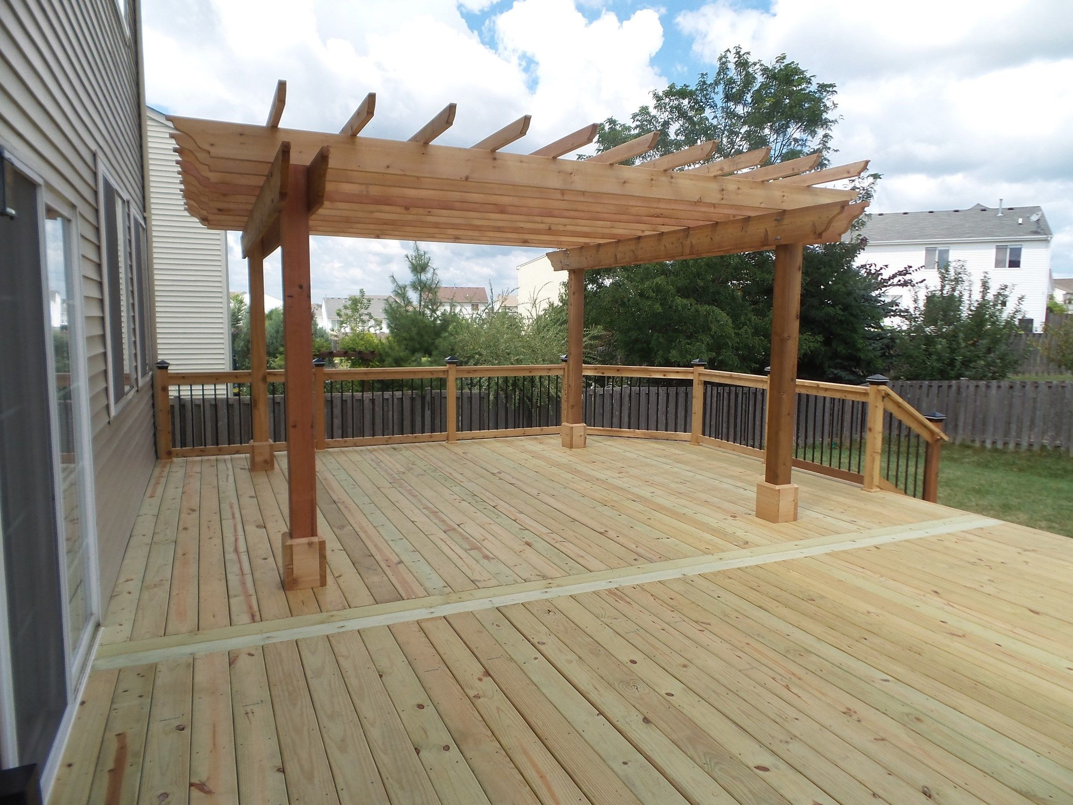 Deckscom Cedar Deck  Pergola  Picture 3638