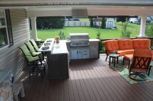 Timbertech Deck With Roof & Outdoor Kitchen
