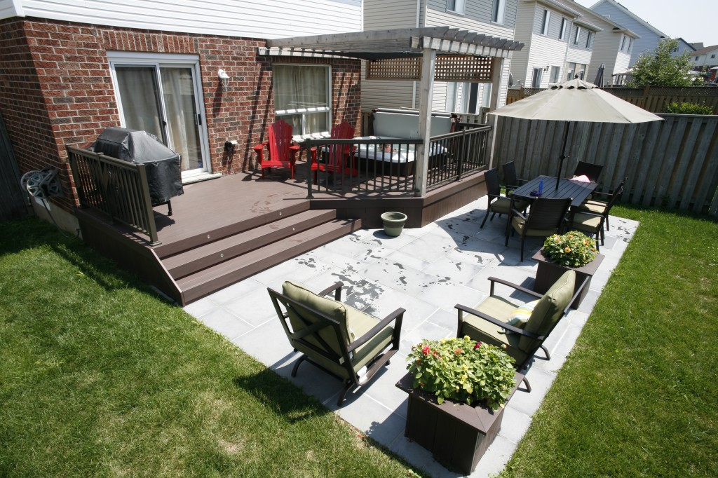 patio and deck combination deck and