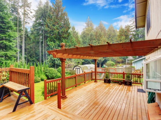 deck with pergola rogers ar