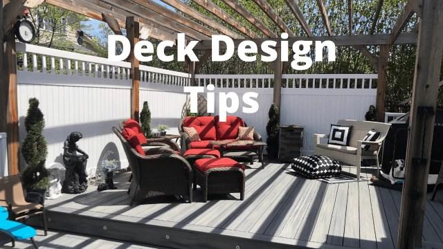 Deck Design Tips
