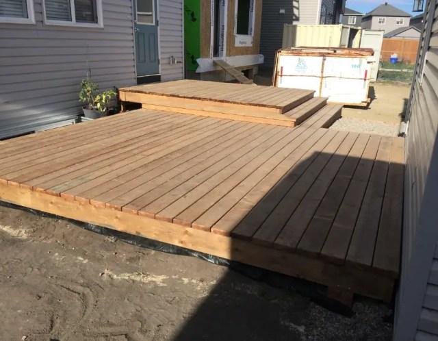 Finished Floating Deck