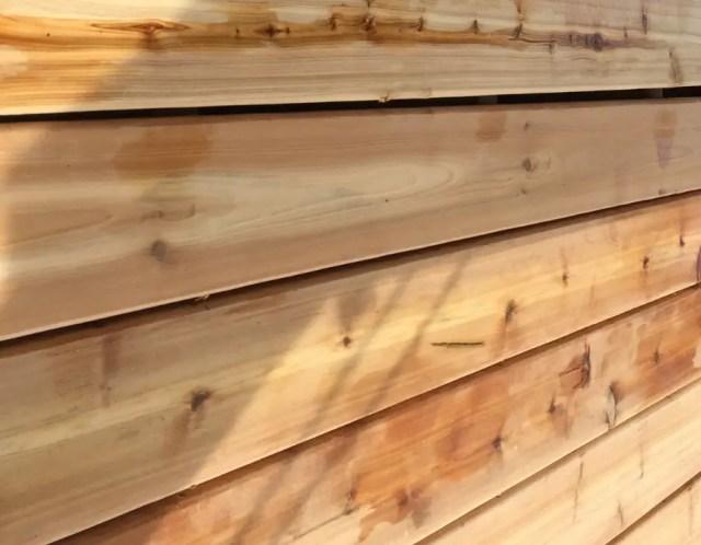 Unstainded cedar decking