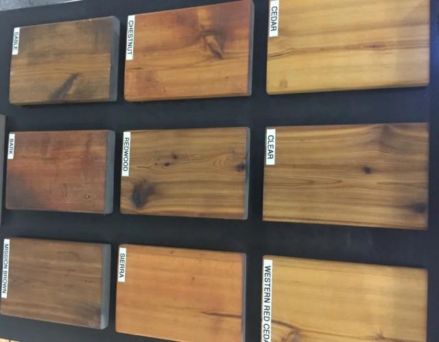 Varity of Cedar Stains
