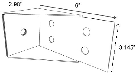 DeckLok DLHDG Hot Dipped Galvanized Steel Lateral Anchor