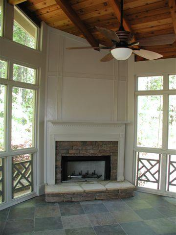 A Potomac MD Patio Becomes a Screened Porch with Outdoor Fireplace  Maryland Custom Outdoor