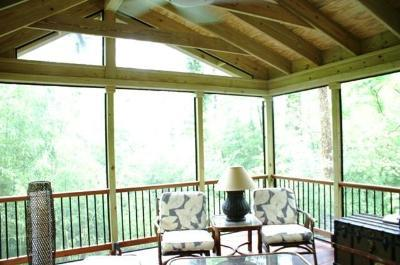 Screened Porch And Patio Combinations Maryland Custom