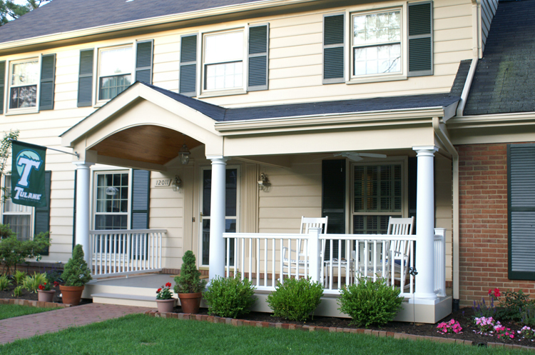 Front Porches And Porticos Maryland Custom Outdoor Builder