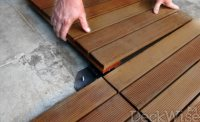 Deck Tile Connectors | Tile Fastener System | Hardwood Deck