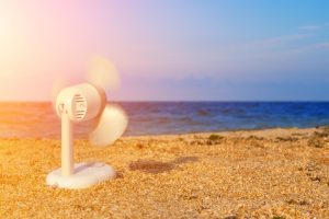 les ventilateurs rafraichissent la température du corps