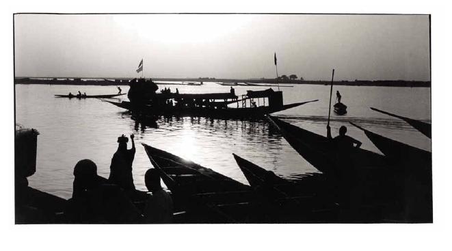 Crépuscule à Mopti, Mali, photographies argentiques, Devals