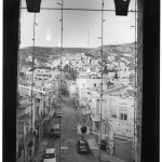 Vue sur la ville nouvelle, Palestine, noir et blanc, argentique, Devals