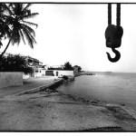 La grue, Saint-Louis, Sénégal, noir et blanc argentique, Jean-Pierre Devals
