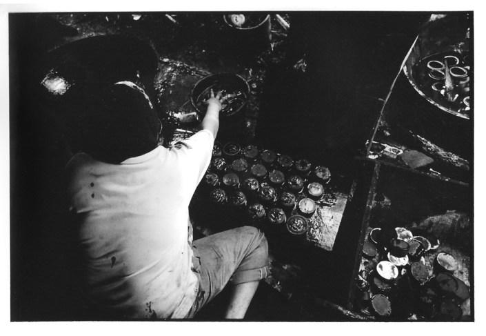Galettes de sucre, Indonésie, noir et blanc argentique, Jean-Pierre Devals