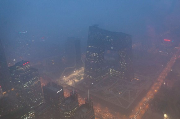 A poluição na China
